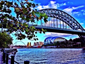 Newcastle Quayside looking towards the Sage