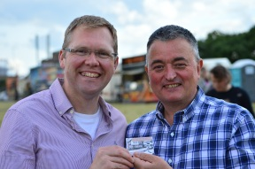 Darren and his partner Cllr Nick Forbes