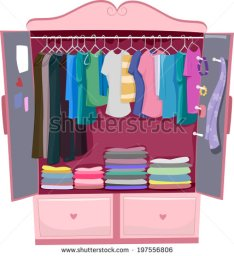 stock-vector-illustration-of-a-pink-wardrobe-full-of-women-s-clothes-197556806