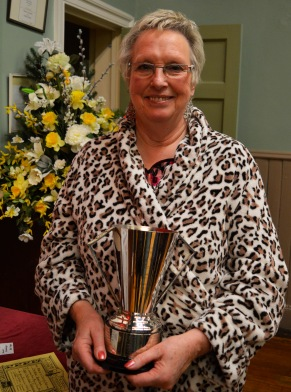 Christine Hamilton winner of the Sheila Beveridge Trophy