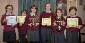 Members of Corbridge School with their trophies