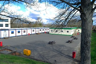 Where the tennis courts were