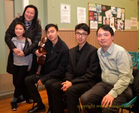 The expeptionally talented Oscar and Edgar Huan Xi Ho and their family, from Ashington
