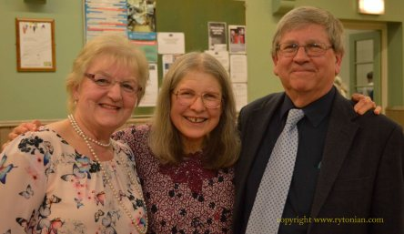 Rachel and Jonathan Rew (right) who between them won several awards. On the left is Jean Dakers from Workington, also an award winner and a member of the West Coast Belles
