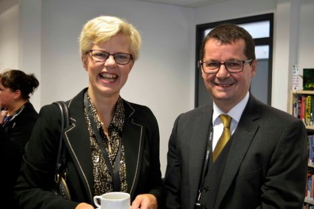 Karen Westgarth and Jonathan Morris (former Chief Executive)