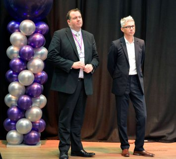 Chief Executive Rob Tarn with Jonathan Edwards CBE